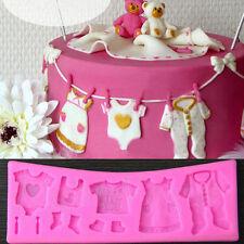 3D Baby Shower Silicona Fondant Molde Tarta Chocolate Decoración Hornear molde
