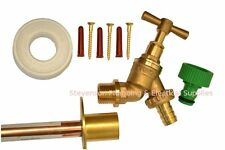 Outside Tap Kit With Through Wall Mounting Flange & Garden Hose Fitting