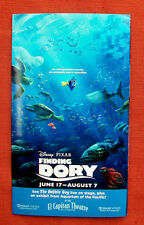 EL CAPITAN THEATRE Flyer Invitation Program Brochure FINDING DORY Disney PIXAR