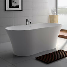Free Standing Solid Surface Stone Modern Soaking Bathtub 64 x 29 inch - SW-101