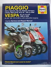 Haynes Manual de taller Vespa Piaggio Nrg Typhoon Sfera Fly Skipper X8 Liberty