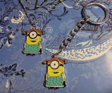 Large Minions Charm Silver Chain Necklace & Key Chain**~$1 SHIP