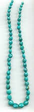 "FACETED HUBEI TURQUOISE OFF-ROUND NUGGET BEADS - 013B - 17.5"" Strand"