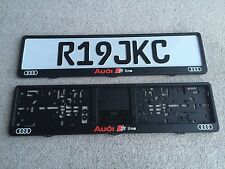 Audi S-Line Number Plate Surrounds x2 Quattro Rs Turbo A6 A7 Dealer Style German