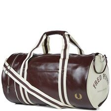 Fred Perry Classic Barrel Gym Bag Travel Fitness Red Mens  Limited Stock