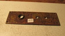 Antique Cast Brass Door Plate  No. 35