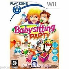 WII BABYSITTING PARTY BABY GAME NINTENDO 30 MINI GAMES USE WITH BALANCE BOARD