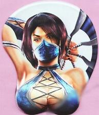 Japanese Anime Mortal Kombat Soft Breast 3D Silicon Mouse Pad Mat Wrist Rest