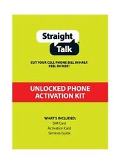 Straight Talk AT&T Nano SIM Card Activation Kit Works iPhone 5, 5C, 5S, iPhone 6