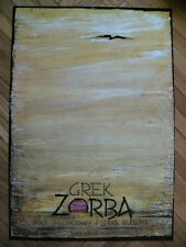 Original theater Polish poster by Kaja, Zorba the Greek