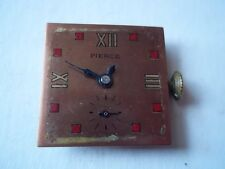 Pierce windup movement and dial. For parts or repair.  Pre-owned.