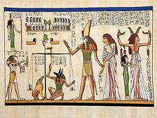 PAINTING ANCIENT EGYPTIAN HEIROGLYPHICS HORUS THOTH ANUBIS MURAL POSTER BMP10018
