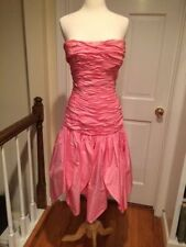 Stunning Murray Arbeid Pink Silk Strapless Dress Princess Di Favorite Size 6