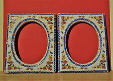 """duo de cadres anciens en porcelaine -style Napoléon 3 dits """"Marie Louise """""""