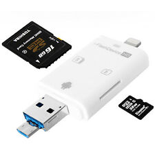 i-Flash Drive TF/SD Memory Card Reader for iPhone 5S 6 iPad Air Samsung Android