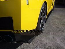 Jun Style Carbon Fiber Rear Bumper Extension Addon Spat For Nissan GTR R35 GTR35