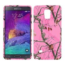 For Samsung Galaxy Note 4 N9100 Pnk Pine Camo Plane Case Hard Cover