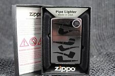 Brand New Zippo Pipe Shapes Pipe Chart Smoking Chrome Pipe Lighter