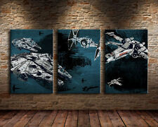 Home Decor Wall art,picture HD printed on canvas,(Unframed) star wars ships  3pc