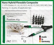 OA2 ( Opaque A2 ) Light Curing Flowable Fine Hybrid Nano Dental Composite 2 x 2g