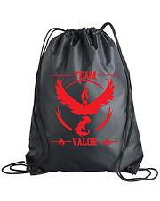 Drawstring Pokemon Go Team Valor Backpack Bag Mystic Instinct Sticker Shirt Plus