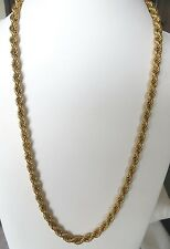 Gold Plated Heavy Men's Solid Rope Chain 30 Inches Long