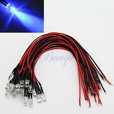 20PCS 5mm Pre Wired Blue Color LED Light 12V for Car/Boat/Bike Decoration MA4 MA