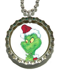 GRINCH CHRISTMAS BOTTLE CAP NECKLACE (CAP033a)