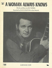 David Houston A Woman Always Knows Photo Sheet Music 1970