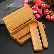 Chinese Wood Stick Coffin Incense Box Holder Storage Burner Handmade Home Decor