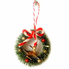 Bambi Deer Retro Kitsch Vintage Style Christmas Tree Decoration Ornament Wreath