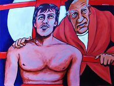 ROCKY BALBOA PRINT poster movie sylvester stallone burgess meredith boxing ring