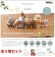 Capsule Q Lisa Larson Miniature Fabriker Gachapon Gatcha Small Figure Set of 5