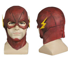USA The Flash Allen Mask Cosplay Prop Halloween Full Face Latex Mask Helmet Hood