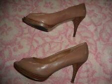 NINE WEST BEIGE SHOES WOMEN'S SIZE 7 1/2 M  (3.5 INCH HEEL)  TRISTANO