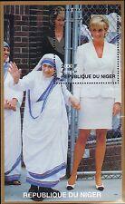 NIGER MNH 1997 PRINCESS DIANA AND MOTHER TERESA ON SOUVENIR SHEET
