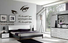 Audrey Hepburn Beautiful Eyes Home Decor Removable Wall Stickers Quote Decal