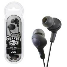 JVC HA-FX5 Gumy Plus In-Ear Gummy Headphones Black Earphones for MP3, MP4, iPods