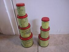 Vintage Wolverine Child's Toy Canisters Yellow/Gold Stars Set Of 4 & Set Of 3!!!