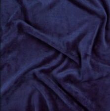 Plain Plush Jersey Navy Fleece Backed Fabric - FQ 50cm x73cm
