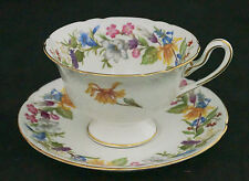 Vintage Shelley Bone China Gainsborough Spring Bouquet Cup Saucer 13651