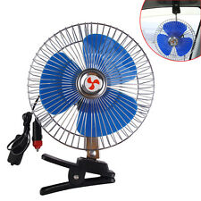"8"" 12v Auto Car Truck Cooling Oscillating Fan with Clip Cigarette Lighter Plug"