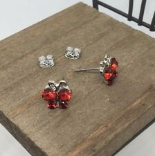 Red Butterfly Crystal Titanium Post Stud Earrings Made in Korea US Seller