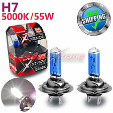 For NISSAN MICHIBA H7 12V 55W 5000K Xenon WHITE Halogen Light Bulbs High Beam 2P