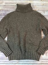 Natural Instincts Women's Size M Brown Marled Cozy Oversized Turtleneck Sweater
