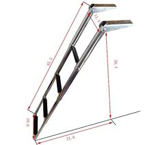 Hot 4 Step Stainless Steel Telescoping Marine Boat Yacht Ladder Upper Platform**