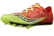 SAUCONY $169 MENS RED YELLOW Mesh LIGHTWEIGHT RUNNING TRACK SHOES CLEATS 13