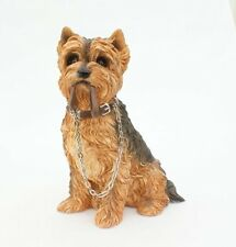 Yorkshire Terrier Sitting Dog Figurine Ornament Walkies By Leonardo