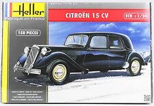 HELLER 1:24 Citroen 15 CV, Automodell, Bausatz, 158 Teile