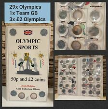 OLYMPIC SPORT COIN HUNT ALBUM LONDON 2012 for 30x 50p coins and 3x £2. NO COINS